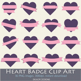 Heart Labels Clip Art Frame Hearts Clipart Valentines Purp