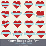 Heart Labels Clip Art Frame Hearts Clipart Valentines Red