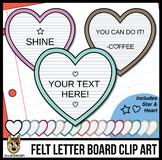Heart Letter Boards Clip Art | White Felt | ADD YOUR OWN T