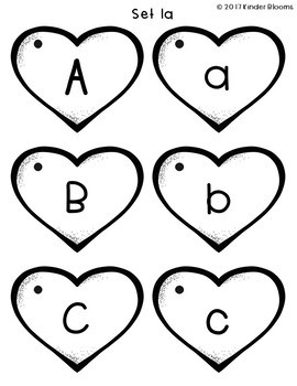 Heart Letters - Phonics Practice & Flashcards {ABC Order}