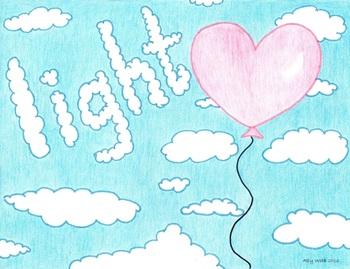 Heart Light Cartoon--Printable Montessori Homonym Cards