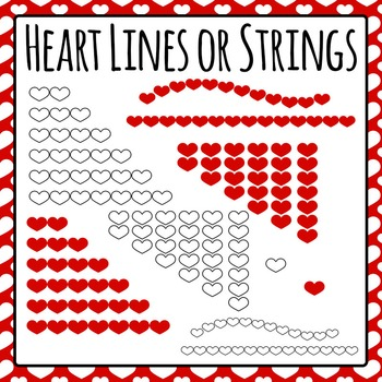 Heart Lines for Graphing / Patterns Commercial Use Clip Art