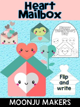 Heart Mail Box - Moonju Makers, Activity, Writing, Craft, Valentine's Day Craft