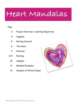 Heart Mandalas for Valentine's Day: Art Lesson for Grades K-7