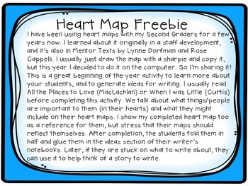 Heart Map Writing Activity