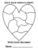 Heart Map Writing Journal Cover