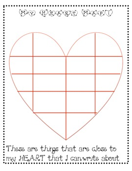 Heart Map for Writing