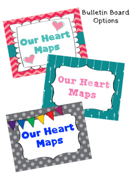 Heart Maps Writing and Journal Activity