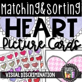 Matching & Sorting Cards: Heart & Valentine Theme, Early Literacy & Math