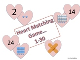 Valentine's Day Ten Frame Matching Game