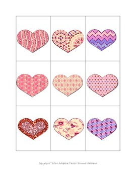 Heart Matching Task Cards
