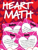 Valentine's Day Heart Math - Mean, Median, Mode, Range, Fr