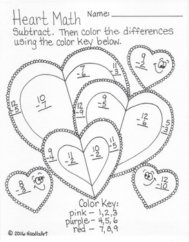 Heart Math Printables