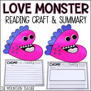 Heart Monster Craft and Bulletin Board