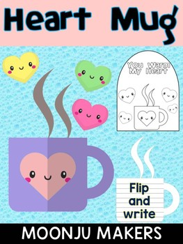 Heart Mug Coffee Cup - Moonju Makers, Activity, Writing, Craft, Valentine's Day