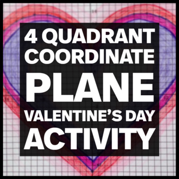 Valentines Day Graphing Coordinate Plane Worksheets & Teaching