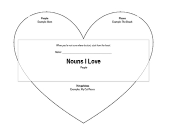 Heart - Nouns for Writer's Notebook
