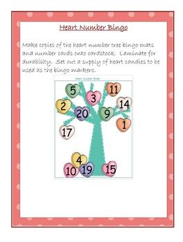 Heart Number Bingo