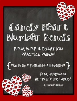 2521bfc3684d Valentine s Day Math Practice Pages  Candy Heart Number Bonds  by Kinder  Blooms