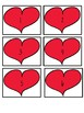 Heart Number Cards