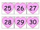 Heart Number Cards/Calendar Cards