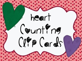Heart Number Clip Cards