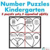 Heart Number Puzzles Kindergarten