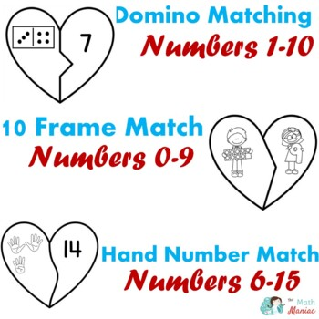 Heart Number Puzzles Kindergarten