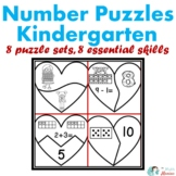 Heart Number Puzzles Kindergarten: Great for Valentine's Day!