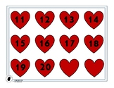 Heart Numbers 11 to 20, Valentine's Day Math