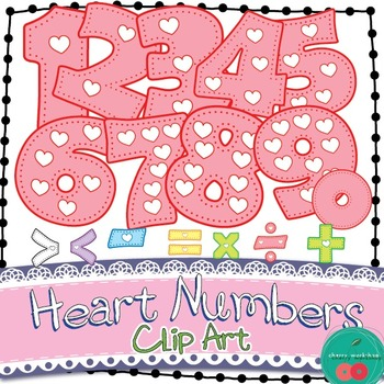 Heart Numbers - Clip Art - Cute St Valentine's Number