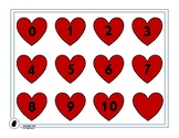 Heart Numbers 0 to 10, Valentine's Day Math