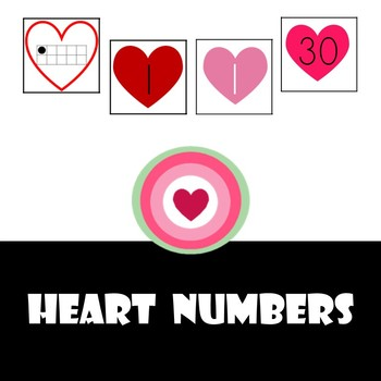 Heart Numbers (Valentines numbers and ten frames)