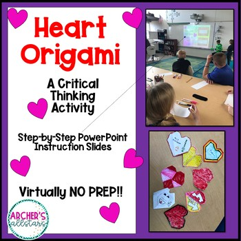 Heart Origami Critical Thinking Activity Valentine's Day