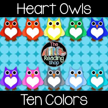 Heart Owls Clip Art