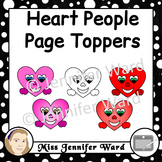Heart Page Toppers Clipart