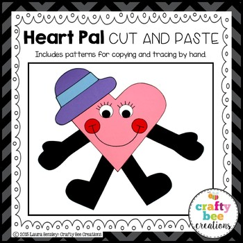 Heart Pal Cut and Paste