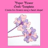 Heart Paper Flower Craft Template