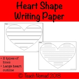 Valentine's Day Heart Writing Paper Template (Landscape)