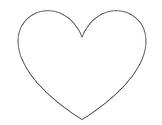 Heart Pattern Craft Template