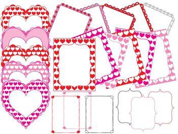 Heart Pattern Frames Borders