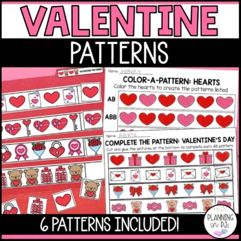 Heart Patterns: Pattern Strips and Create-a-Pattern