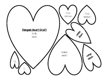 Heart Penguin Craft & Following Directions