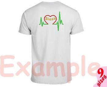 Heart Pulse Line Embroidery Design Bless love nurse medic doctor medicine 158b