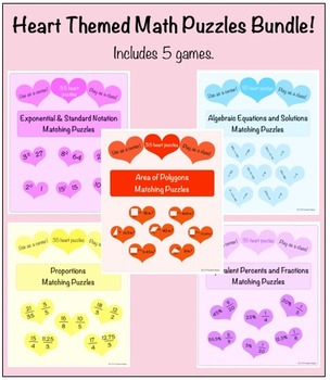 Heart Puzzles Bundle {5 Puzzles}