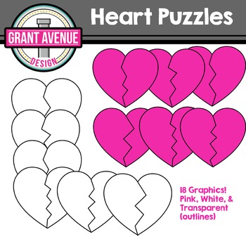 Heart Puzzles Clipart