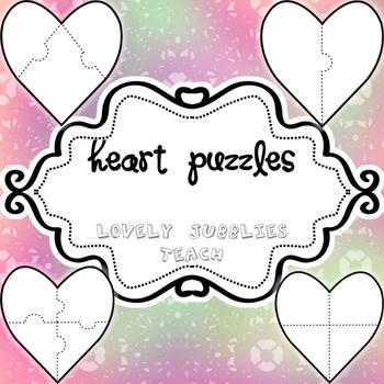 Heart Puzzles_ PNG Clip Art