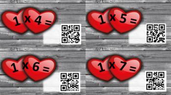 Heart QR Code Multiplication Flashcards [Valentine's Day]