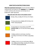Heart Rate Monitor Reference Rubric/Chart for students!