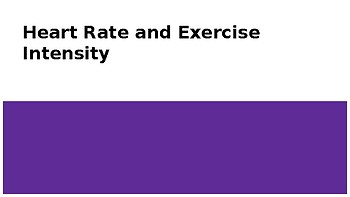 Heart Rate and Exercise Intensity Powerpoint